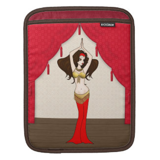 Brunette Bellydancer in Red and Gold Costume iPad Sleeve
