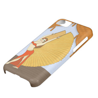 Brunette Bellydancer with Gold Isis Wings Case For iPhone 5C