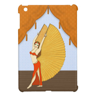 Brunette Bellydancer with Gold Isis Wings iPad Mini Cases