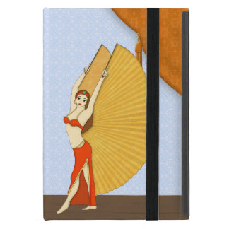 Brunette Bellydancer with Gold Isis Wings iPad Mini Cover