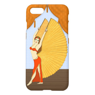 Brunette Bellydancer with Gold Isis Wings iPhone 8/7 Case