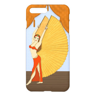 Brunette Bellydancer with Gold Isis Wings iPhone 8 Plus/7 Plus Case