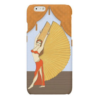 Brunette Bellydancer with Gold Isis Wings Matte iPhone 6 Case