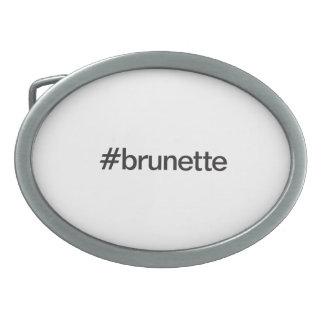 brunette belt buckle