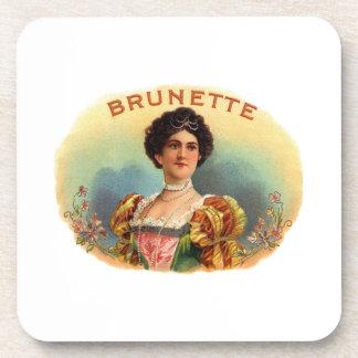 Brunette Beverage Coasters