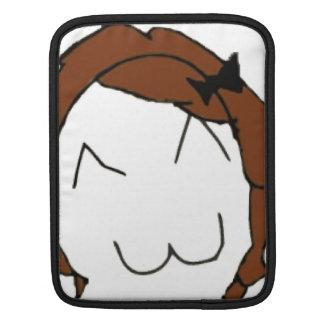 Brunette Big Smile Comic Meme iPad Sleeves