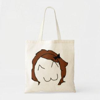 Brunette Big Smile Comic Meme Tote Bag