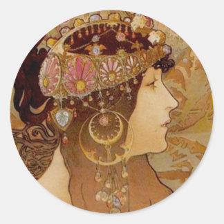 Brunette bizantino, 1897 etiquetas redondas
