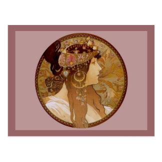 Brunette bizantino, 1897 tarjeta postal