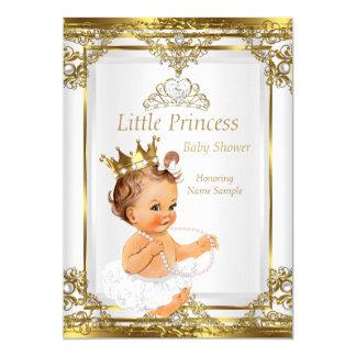 """Brunette blanco de la princesa fiesta de invitación 5"""" x 7"""""""