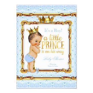 """Brunette blanco del príncipe fiesta de bienvenida invitación 5"""" x 7"""""""