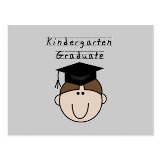 Brunette Boy Kindergarten Graduate Postcard