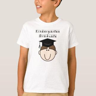 Brunette Boy Kindergarten Graduate T-Shirt