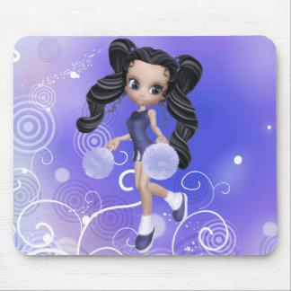 Brunette Cheerleader Girl Mousepad