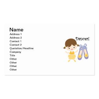 Brunette Dancer Double-Sided Standard Business Cards (Pack Of 100)