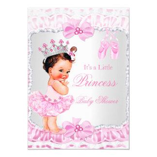 """Brunette de la bailarina del rosa del chica de la invitación 5"""" x 7"""""""