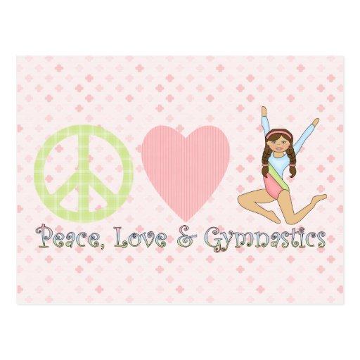 Brunette de la paz, del amor y de la gimnasia postal