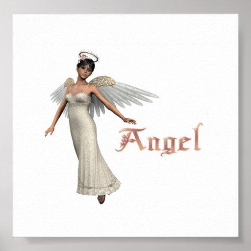 Brunette del ángel del KRW Posters