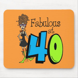 Brunette Fabulous at 40 Birthday Mouse Pad