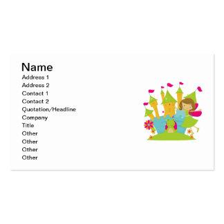 Brunette Fairy Princess Business Card