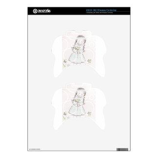 Brunette Flower Girl Xbox 360 Controller Skin