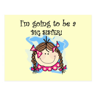 Brunette Future Big Sister Tshirts and Gifts Postcard
