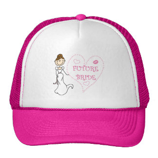Brunette Future Bride Tshirts and Gifts Trucker Hat