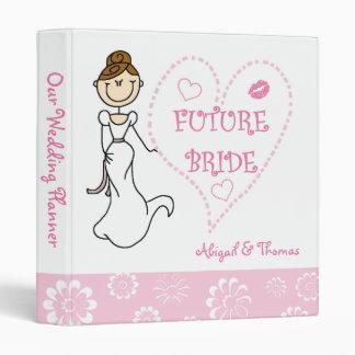 Brunette Future Bride Wedding Planner Binder