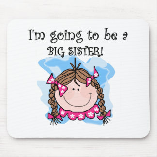 Brunette Girl Future Big Sister Mouse Pad