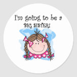Brunette Girl Future Big Sister Sticker