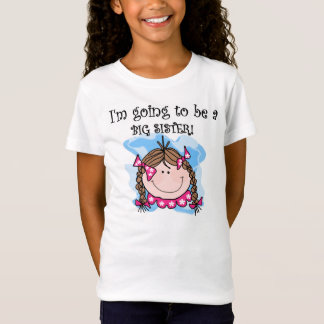 Brunette Girl Future Big Sister T-Shirt