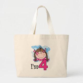 Brunette Girl I'm Four Bags