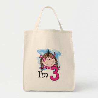 Brunette Girl I'm Three Canvas Bags