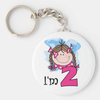 Brunette Girl I'm Two Keychains