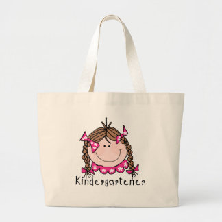 Brunette Girl Kindergarten Tshirts and Gifts Large Tote Bag