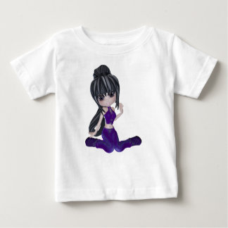 Brunette Girl with Lilac Clothing Baby T-Shirt