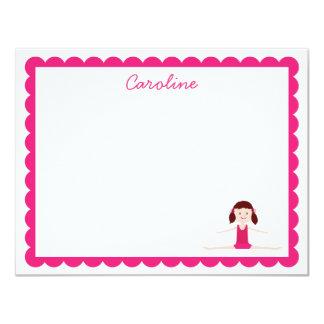 Brunette Gymnast | Flat Note Card