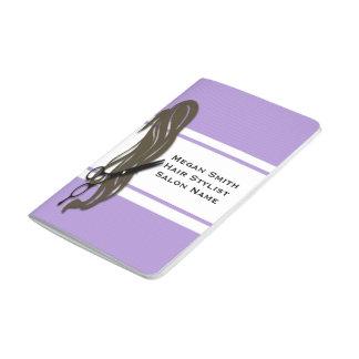 Brunette Hair Stylist Scissors Pocket Journal