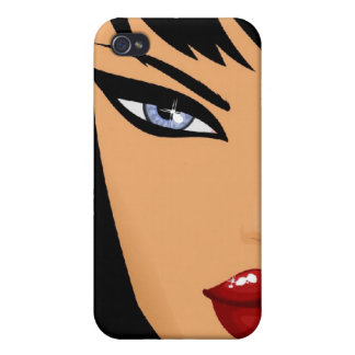 Brunette hermoso iPhone 4 protector