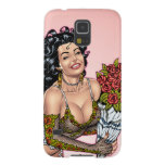 Brunette in Lingerie with Roses Illustration Galaxy S5 Cases