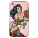 Brunette in Lingerie with Roses Illustration iPod Touch Cover
