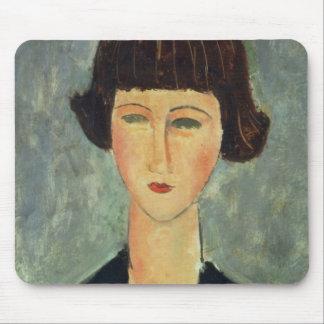Brunette joven, 1917 (aceite en lona) tapete de ratón