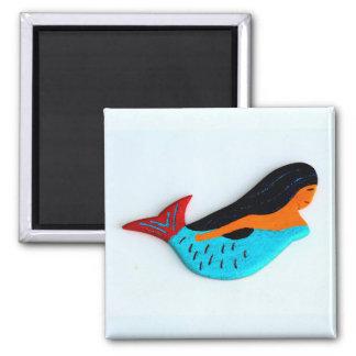 brunette mermaid magnet