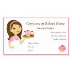 Brunette/Pink Cupcake Baker/Bakery 2 Business Card