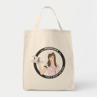 Brunette PopChiX Girl Tote Bags