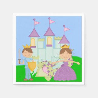 Brunette Prince and Princess Paper Napkins