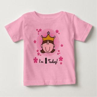 Brunette Princess 1st Birthday T-shirt