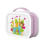 Brunette Princess and Frog at Castle Lunch Box