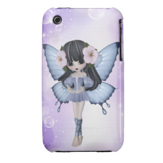 Brunette Princess Butterfly iPhone Case iPhone 3 Case