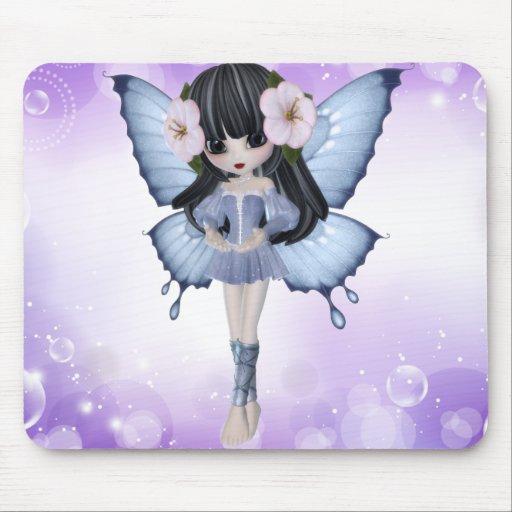 Brunette Princess Butterfly Mousepad